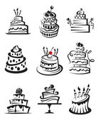 Set of cakes — Stockvector