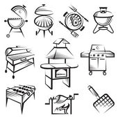 Set of barbecue design — Stock Vector
