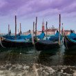 Venice view with Gondole - Stock Photo