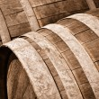 Stock Photo: Oak Wine Barrel Close Up