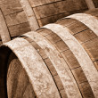 Oak Wine Barrel Close Up — Stock Photo #11034740