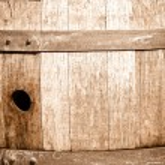 Oak Wine Barrel Close Up — Stock Photo #11035386
