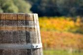 Wine Barrel in Autumn — Stock Photo