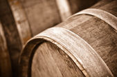 Wine Barrel in Cellar — Stock Photo