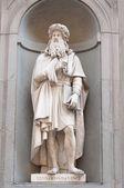 Leonardo da Vinci in Florence Italy — Stock Photo