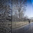 vietnam war memorial in washington dc — Stock Photo