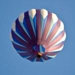 Purple and White Hot Air Balloon — Stock Photo