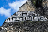 Xunantunich Belize Mayan Temple Close Up of Frieze — Stock Photo