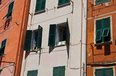 Colorato edificio cinque terre italia — Foto Stock