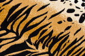 Tiger Cheetah Print Rug Background — Stock Photo