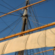 Mast of a Pirate Ship setting off to sea — Stock Photo #11079656