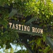 Wine Tasting Room Sign — Stock Photo