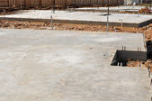 New Property Home Foundation Construction with conrete slab — Stock Photo