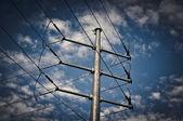 Elettrico powerline — Foto Stock