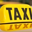 Stock Photo: Yellow and Black Taxi Cab Car Sign