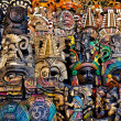Mayan Wooden Masks for Sale — Stock Photo #11117355
