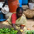 Indian Woman sell produce at the market — Foto Stock