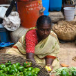 Indian Woman sell produce at the market — Stock Photo