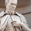 Stock Photo: Statue of Michelangelo Buonaroti