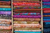 Indian Fabrics for Sale — Stock Photo