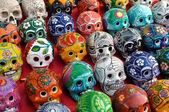 Crânes en vente à chichen itza — Photo