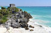Mayan Ruins Tulum Mexico — Stock Photo
