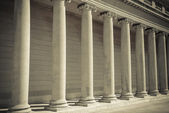 Pillars of Law and Justice — Stock Photo