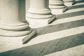 Pilares da lei e justiça — Foto Stock