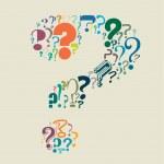 point d'interrogation rempli de points d'interrogation — Vecteur