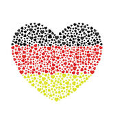 German Flag Heart — Stock Vector