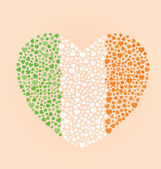 Irish Flag Heart — Stock Vector