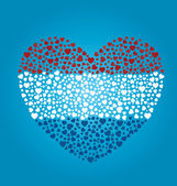 Dutch Flag Heart — Vector de stock