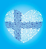 Finland Flag Heart — Stock Vector