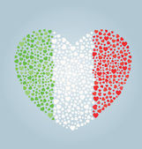 Italian Flag Heart — Stock Vector
