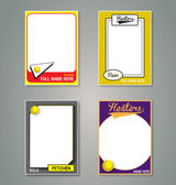 Softball Trading Card Picture Frames — Stock Vector