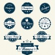 Vintage Sports Labels For Champions - Stock Vector