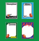 Football Trading Card Picture Frames — Stock Vector