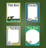 Tennis Trading Card Picture Frames — Stock Vector