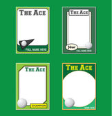 Golf Trading Card Picture Frames — Stock Vector