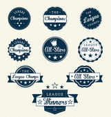 Vintage Sports Labels For Champions — Stockvector