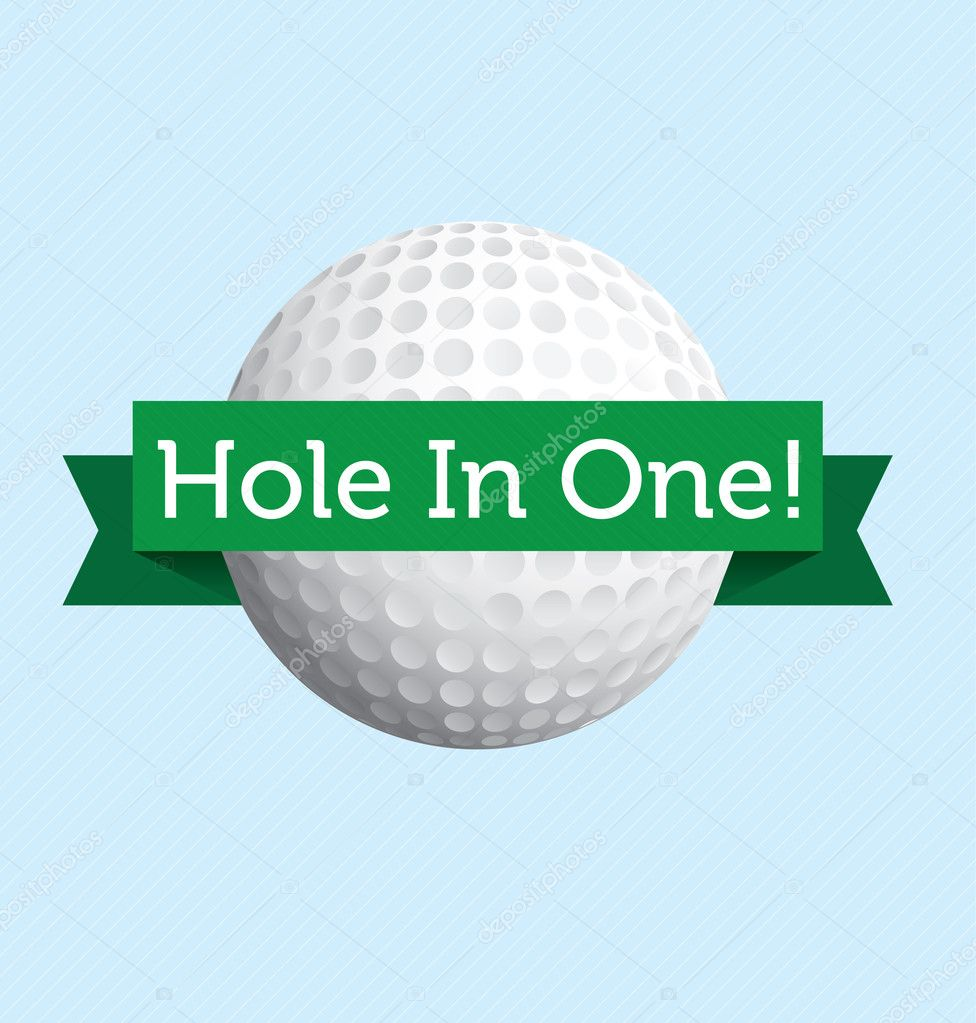 Vector label to announce a hole in one in golf  Stock Vector #11196632