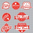 Stock Vector: Vector Set: Classic Car Labels