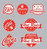 Vector Set: Classic Car Labels — ストックベクタ