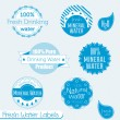Vector Set: 100% Drinking Water Labels — Stock Vector