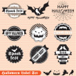 Vector Set: Happy Halloween Labels — Stock Vector