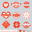 Vector Set: Summer of Love Labels — Stockvectorbeeld
