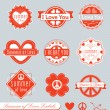 Vector Set: Summer of Love Labels — Stock Vector