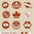Vector Set: Fall Season Sale - Stock Vector