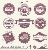 Vector Set: Summer Season Sale — Stock Vector