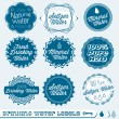 Vector Set: Seltzer Drinking Water Labels — Stock Vector